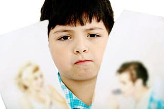 What are the effects a high-conflict divorce can have on the children?