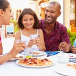 A blended family dines out