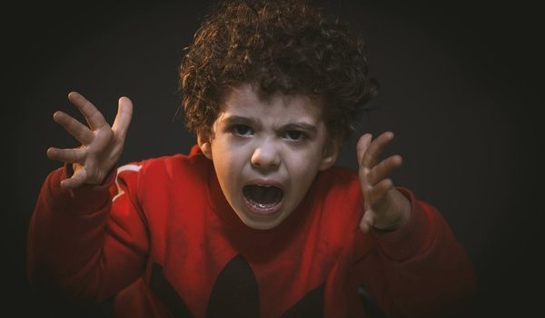 Weaponize our Children: angry little boy